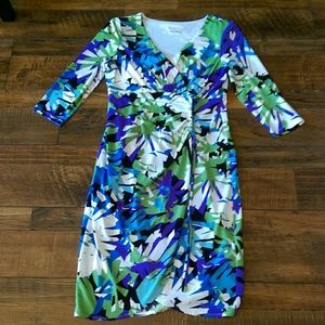 London Times Petites 10P Colorful Summer Dress